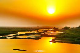 四里湖落日