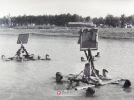 1970年7月16日阜阳纪念毛主席畅游长江时拍的