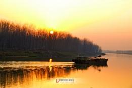 日落淮河湾