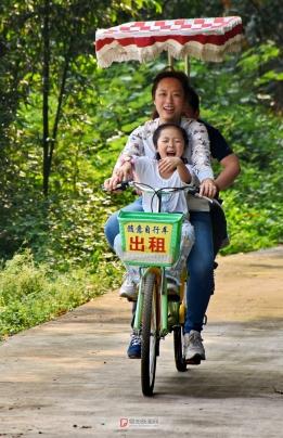 骑车游景区