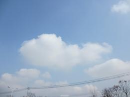 雪后的蓝天白云