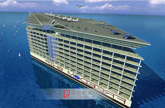 漂浮的海上城市!排水量270万吨,相当于27艘福特级核动力航母 ...